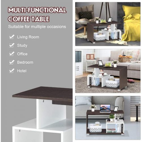 Giantex Coffee Table with Storage 3