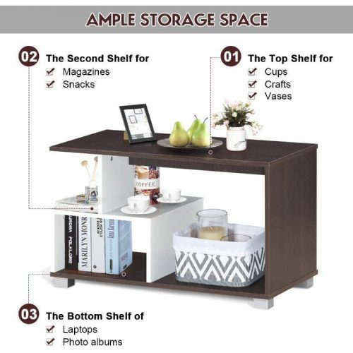 Giantex Coffee Table with Storage 2
