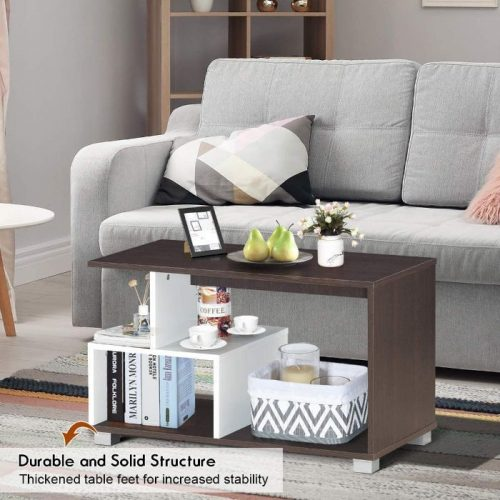 Giantex Coffee Table with Storage 6
