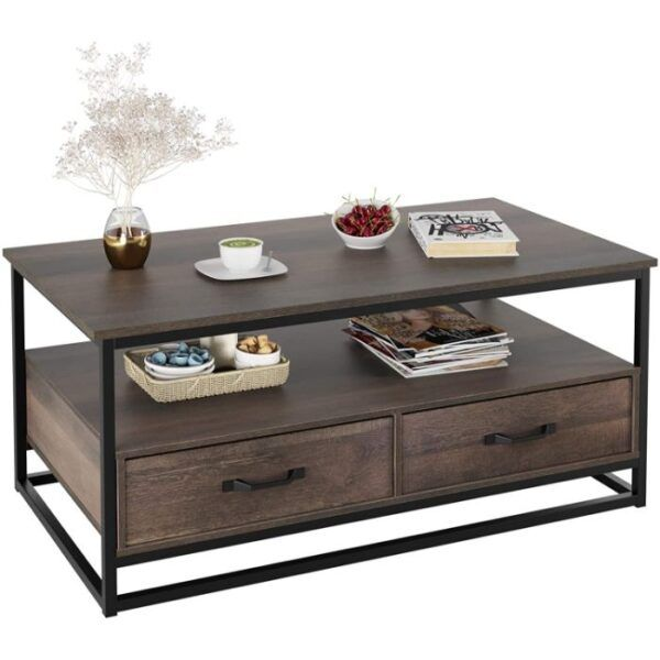 HOMECHO Coffee Table with Storage