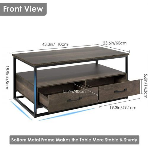 HOMECHO Coffee Table with Storage 1
