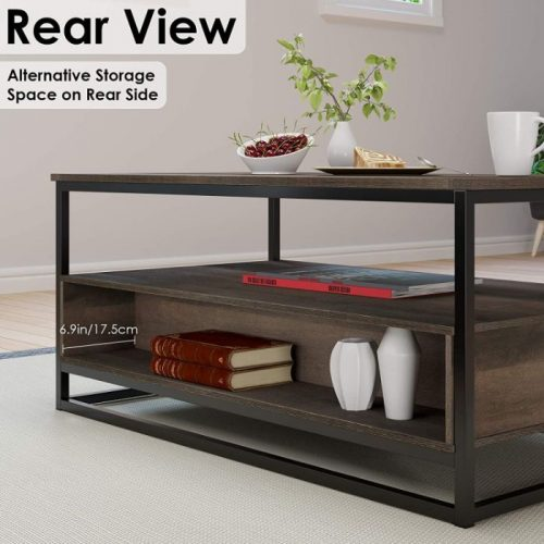 HOMECHO Coffee Table with Storage 3