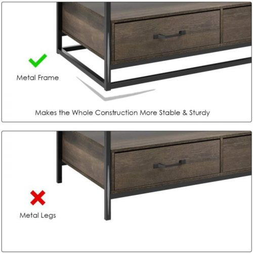 HOMECHO Coffee Table with Storage 2