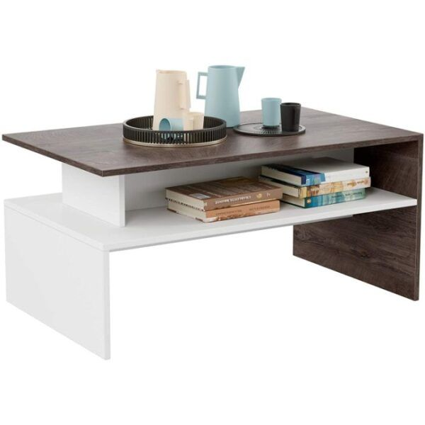 HOMFA Modern Coffee Table with Storage