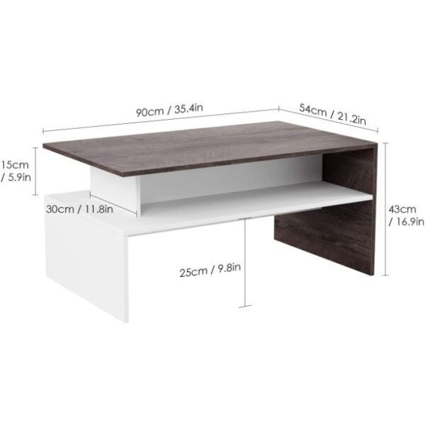 HOMFA Modern Coffee Table with Storage 1