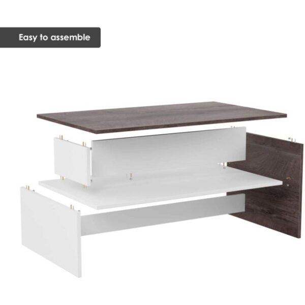 HOMFA Modern Coffee Table with Storage 3