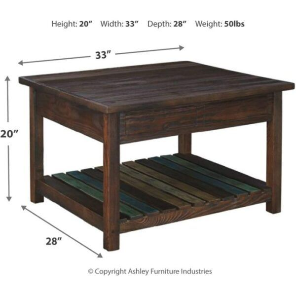 Lift Top Coffee Table with Storage 1