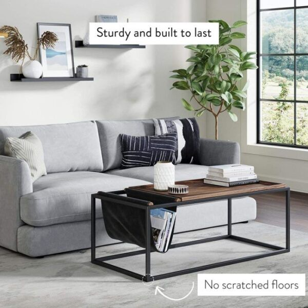 Modern Coffee Table with Storage 3