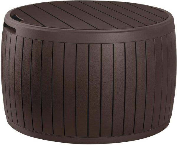 Round Deck Box Coffee Table with Storage
