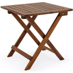 cucunu Adirondack Square Folding Coffee Table in Acacia Wood