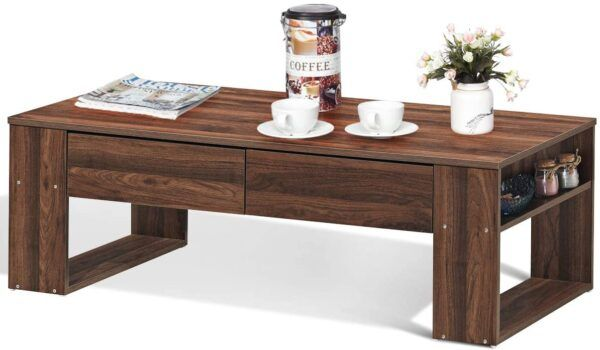 Giantex Coffee Table with Storage Drawers