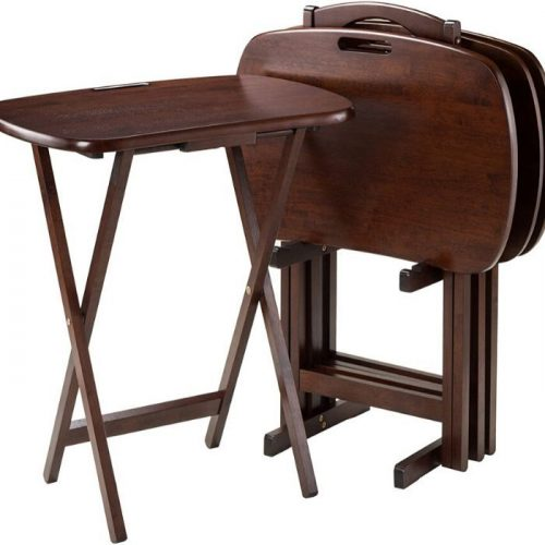 New Luca 5-pc folding table set with handle cheap price