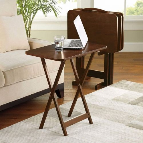 5 Piece Tray Table Set Folding coffee table